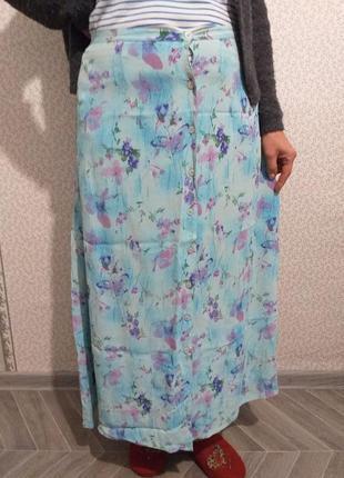 Летняя, легкая юбка из вискозы.(2480)