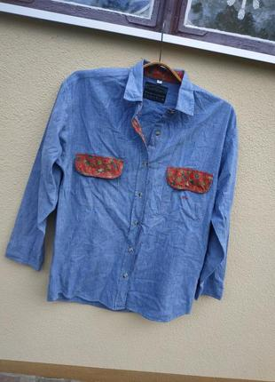 Джинсовая рубашка и джинсовка большая