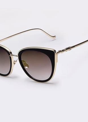 Женские солнцезащитные очки кошачий глаз. жіночі сонцезахисні окуляри