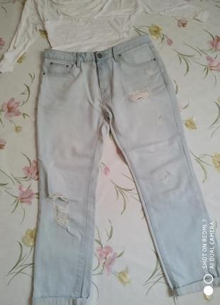 Летние джинсы бойфренды