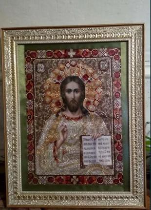 Картина, иисус христос ручная работа