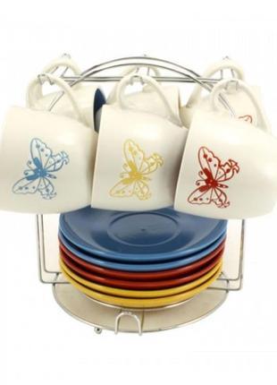 Чайный сервиз бабочки