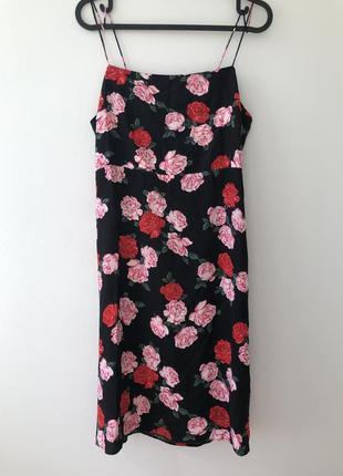 Платье сарафан с красивой спинкой цветочный принт & other stories