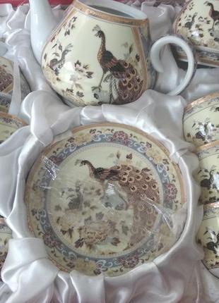 Чайный сервиз павлин на 15 предметов