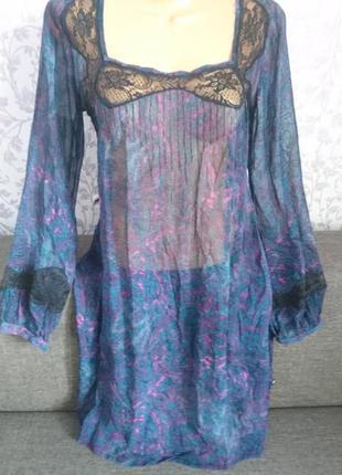 Вискозное полупразрачное платье