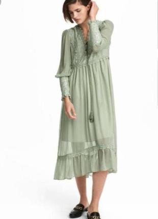 Шикарное платье миди h&m в ретро стиле.