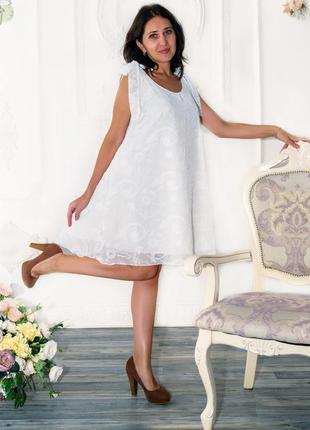 Женский легкий сарафан белый