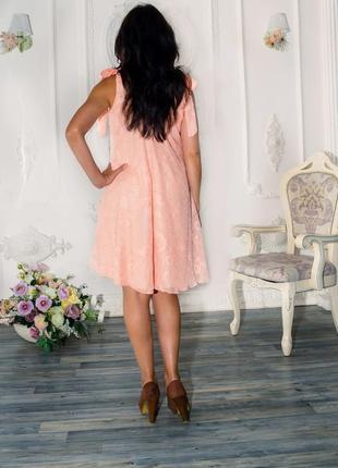 Женский легкий сарафан абрикосовый3 фото