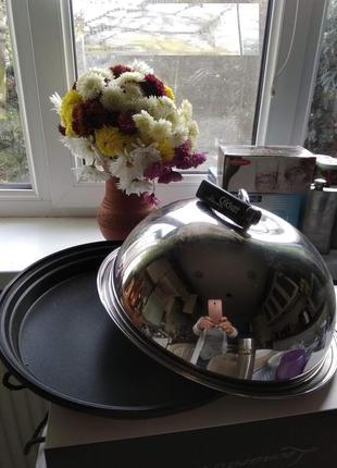 Баранчик (крышка для горячего, клош) d28*h15см с блюдом колпак