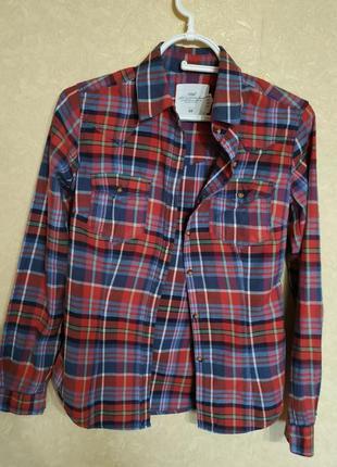 Рубашка в клетку,h&m,158-164,xs,s