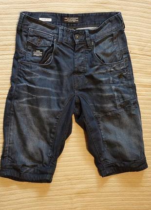 Отличные темно-синие джинсовые шорты креативного бренда core by jack & jones дания s