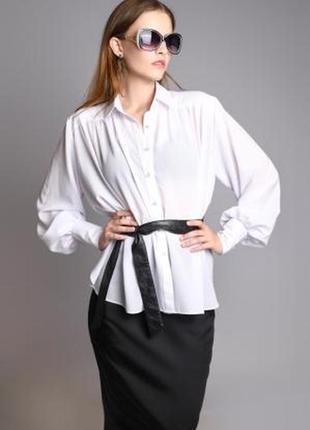 Рубашка белая с пышными рукавами от eva imperskaya