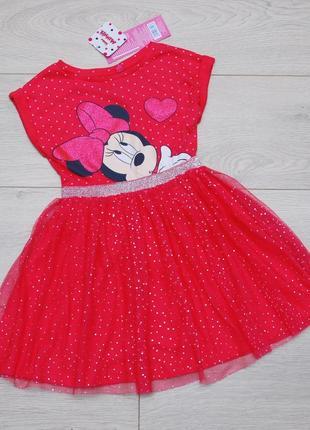 Платье нарядное с фатиновой юбкой микки маус minnie disney pepco
