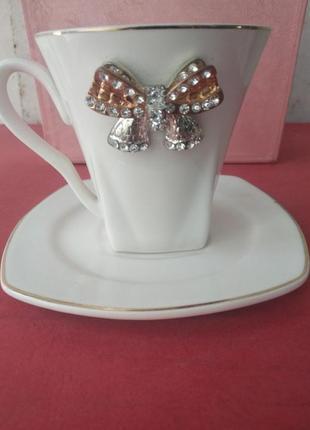 Чашка с бантиком