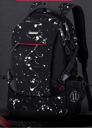 Крутой рюкзак с usb водоотталкивающим покрытием