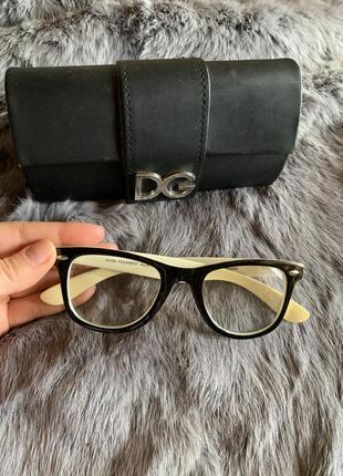 Чёрные имиджевые очки прозрачные рей бен avon в горошек