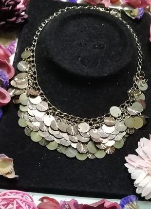 Оригинальное винтажное дизайнерское  ожерелье 'монетки' от icing + подарок