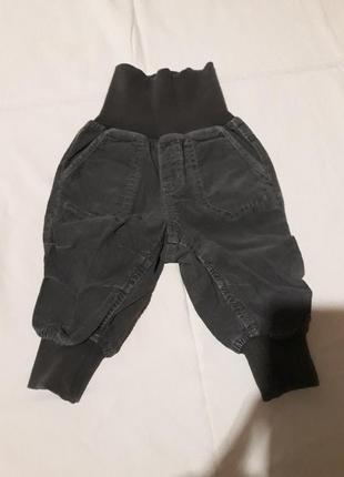 Вельветовые штаны на 6-9 мес