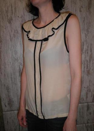 Элегантная воздушная шелковая креп де шин блуза топ anja sun suko размер м качество