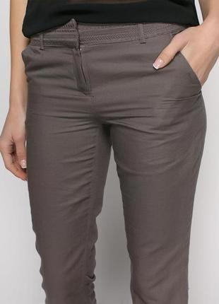 Комфортные льняные брюки promod