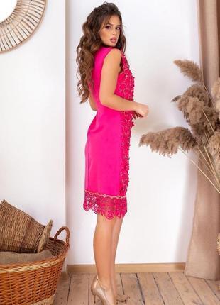 Платье в камнях сваровски малиновое3 фото