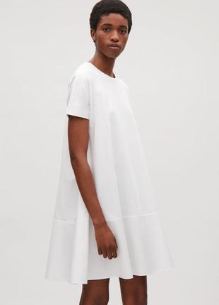 Белое платье cos