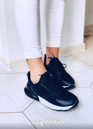 Черные кроссовки из обувного текстиля на шнуровках