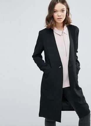 Удлиненный приталенный пиджак, тренч