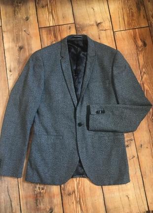 Мужской пиджак h&m (slim fit)