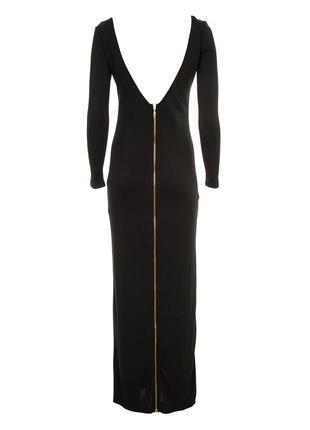Черное миди платье с открытой спиной supertrash
