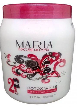 Ботокс для волос maria escandalosa  white1000 ml