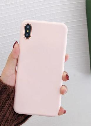 Чохол на айфон х хs iphone защита розовый