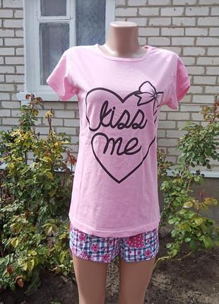 Женская пижамка шортики + футболочка