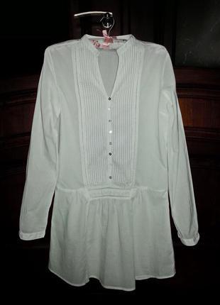 Стильная удлиненная блуза, рубашка
