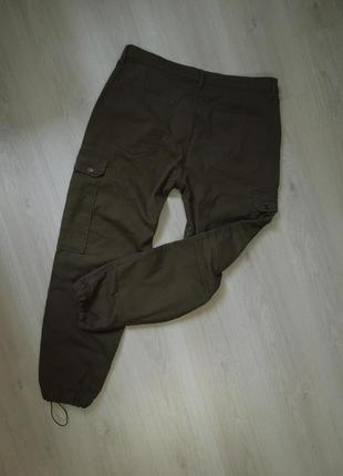 Фирменные штаны с накладными карманами карго оригинал zara