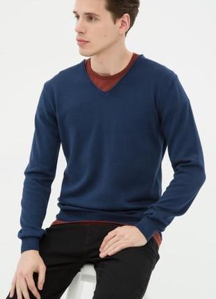 Мужской синий свитер koton размер m