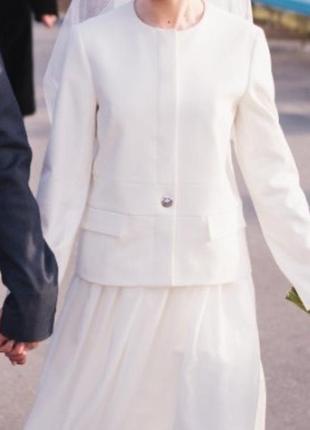 Белый пиджак zara размер s