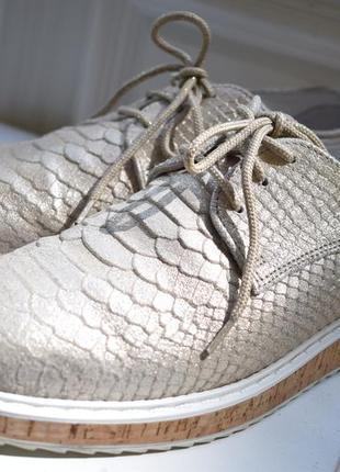 Кожаные туфли лоферы оксфорды мокасины carlos simoes р.39-39,5 25,5 см