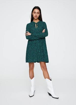 Pull&bear трендовое платье оверсайз в цветочный принт м 38 euro