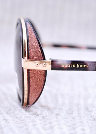 Фирменные круглые очки katrin jones, новинка 2017