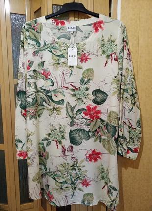 Натуральное летнее платье. l.b.c.