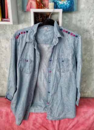 Рубашка джинсовая оверсайз