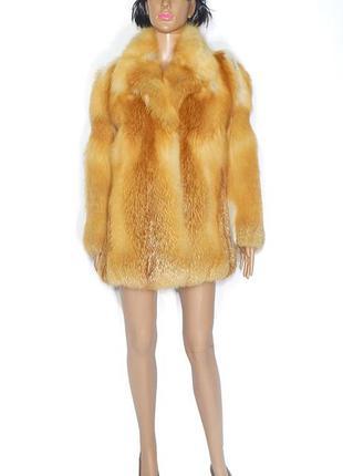 Шуба из лисы огневки, канадская red fox, р 42-44 №27 полушубок из лисы