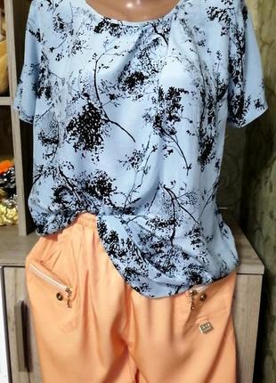 Комплект  кюлоты +блуза, размер m-l