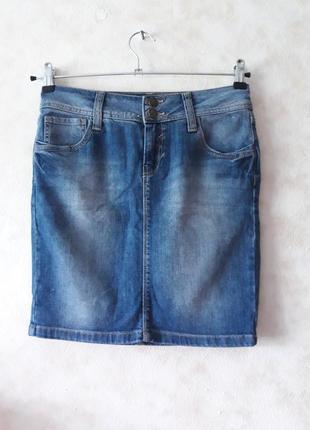Джинсовая короткая юбка ,коротка спiдниця