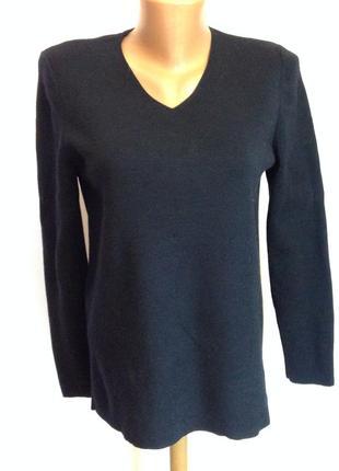 Фирменный темно синий шерстяный пуловер /m/ brend saint james