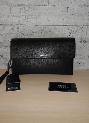 Мужская сумка клатч барсетка мужской hugo boss, кожа, италия 9095