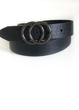 Кожаный ремень с двумя кольцами