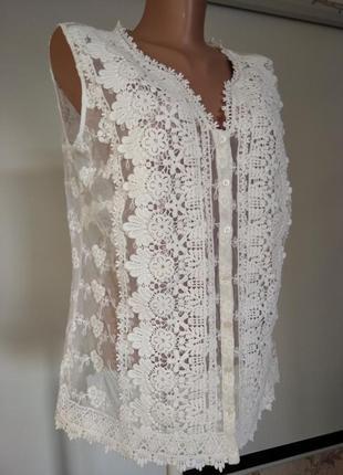 Ажурная кружевная блузка