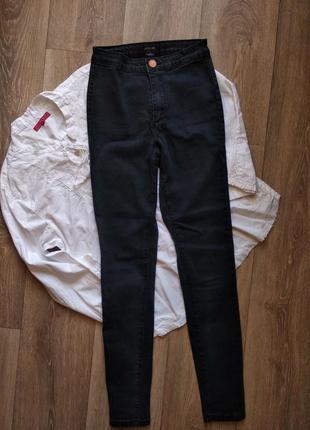 Штаны джинсы высокая посадка